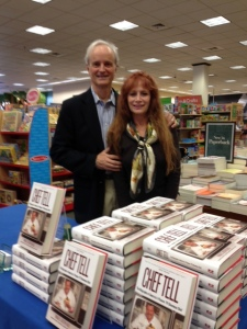 B&N store signing -author and wife Sherry.